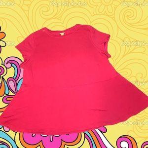 Tops - 💝Pink Peplum Style Top! 💗Dark Pink